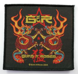 Guns N'Roses - 'Chinese Dragons' Woven Patch